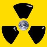 Amenaza de la bomba atómica Fotografía de archivo libre de regalías