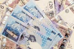 Amenaza de la moneda de la crisis de Qatar Fotografía de archivo libre de regalías