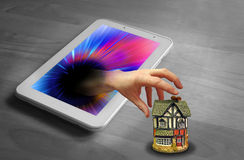 Amenaza de la seguridad en el hogar de Internet Foto de archivo libre de regalías