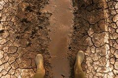 Amenaza de los efectos del calentamiento del planeta y del cambio de clima para la humanidad fotografía de archivo