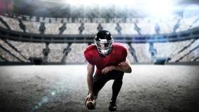 Amenaza del jugador de fútbol americano la cámara ilustración del vector