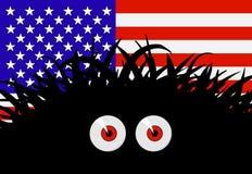 Amenaza desconocida para los Estados Unidos de América stock de ilustración
