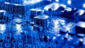 Amenazas cibernéticas del ataque de la innovación electrónica fotografía de archivo libre de regalías