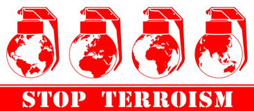 Amenazas y terrorismo global Foto de archivo libre de regalías