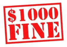 AMENDE $1000 Photos libres de droits