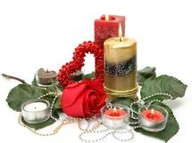 Amende rose et bougie Image libre de droits