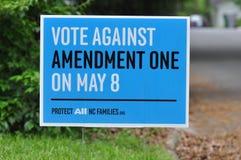Amendement Één Oppositie stock afbeelding