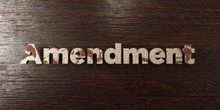 Amendment - grungy wooden headline on Maple  - 3D rendered royalty free stock image Stock Photography