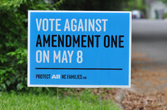Amendment One Opposition Stock Image