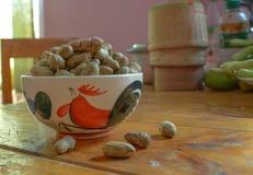 Amendoim descascado em amendoins bons Foto de Stock Royalty Free