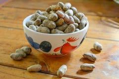 Amendoim descascado em amendoins bons Imagens de Stock Royalty Free