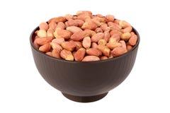 Amendoim descascado na bacia Foto de Stock