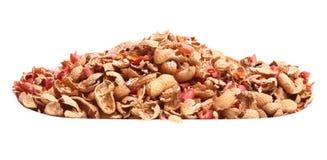 Amendoim isolado no fundo branco Fotografia de Stock