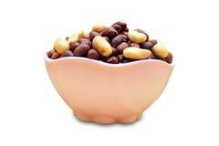 Amendoim na bacia Fotografia de Stock