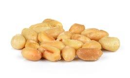 Amendoim no fundo branco fotografia de stock royalty free