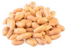 Amendoins Amendoins processados no fundo Fotografia de Stock