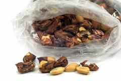 Amendoins cozidos para o conceito do alimento Fotografia de Stock