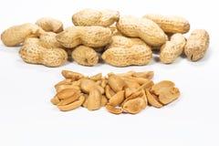 Amendoins do close up Foto de Stock Royalty Free