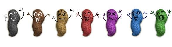 Amendoins felizes do GM Fotografia de Stock Royalty Free
