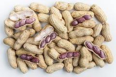 Amendoins fervidos Fotografia de Stock