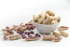 Amendoins fervidos Fotografia de Stock Royalty Free