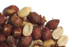 Amendoins macro Imagens de Stock