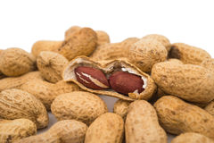 Amendoins no escudo fotos de stock royalty free
