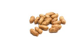 Amendoins no fundo branco Imagens de Stock