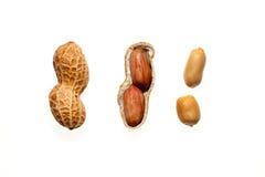Amendoins no fundo branco Imagens de Stock Royalty Free