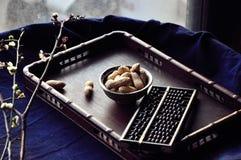 Amendoins pretos Imagem de Stock Royalty Free