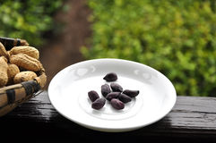 Amendoins pretos imagens de stock royalty free