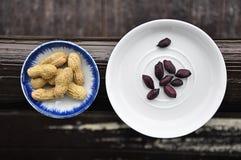 Amendoins pretos Fotos de Stock
