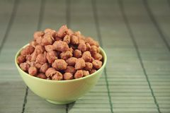 Amendoins quentes e picantes Fotografia de Stock