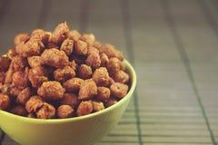 Amendoins quentes e picantes Imagens de Stock Royalty Free