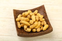Amendoins Unpeeled Fotografia de Stock Royalty Free