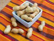Amendoins Unpeeled Foto de Stock
