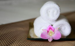 Amenities. Wellness amenities in a 5 star hotel Stock Image