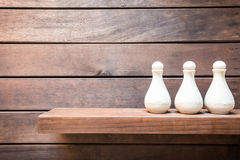 Amenities On Wooden Board Stock Image
