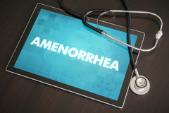 Amenorrhea (endocrine disease) diagnosis medical concept on tabl Royalty Free Stock Photography