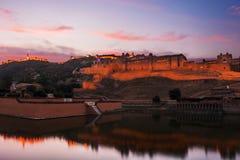 Amer οχυρό στο Jaipur, Rajasthan, Ινδία στοκ εικόνα