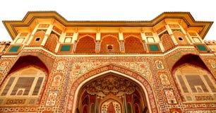 Amer οχυρό, Jaipur - μια άποψη ματιών πουλιών Στοκ εικόνα με δικαίωμα ελεύθερης χρήσης