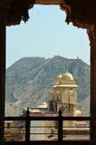 Amer (Amber) οχυρό ή παλάτι, nr Jaipur, Ινδία Στοκ εικόνα με δικαίωμα ελεύθερης χρήσης