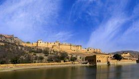 Amer Amber Fort célèbre du Ràjasthàn, Inde Photos stock