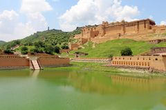 The Amer or Amber Fort overlooking Maota Lake
