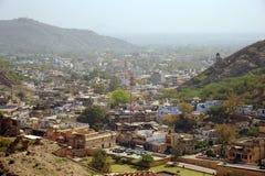 Amer from Amer palace, Jaipur, India. Amer village viewed from Amer Palace (Amber Palace) near Jaipur Stock Image