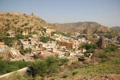 Amer dorp van Amberpaleis, Jaipur, India Royalty-vrije Stock Afbeelding