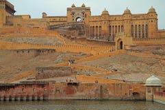 Amer Fort é atração turística principal na área de Jaipur Foto de Stock