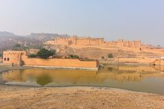 Amer Fort on the edge of the Aravalli Hills at Jaipur