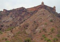 Amer Fort est attraction touristique principale dans la région de Jaipur Image libre de droits
