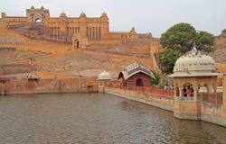 Amer Fort est attraction touristique principale dans la région de Jaipur Photo stock